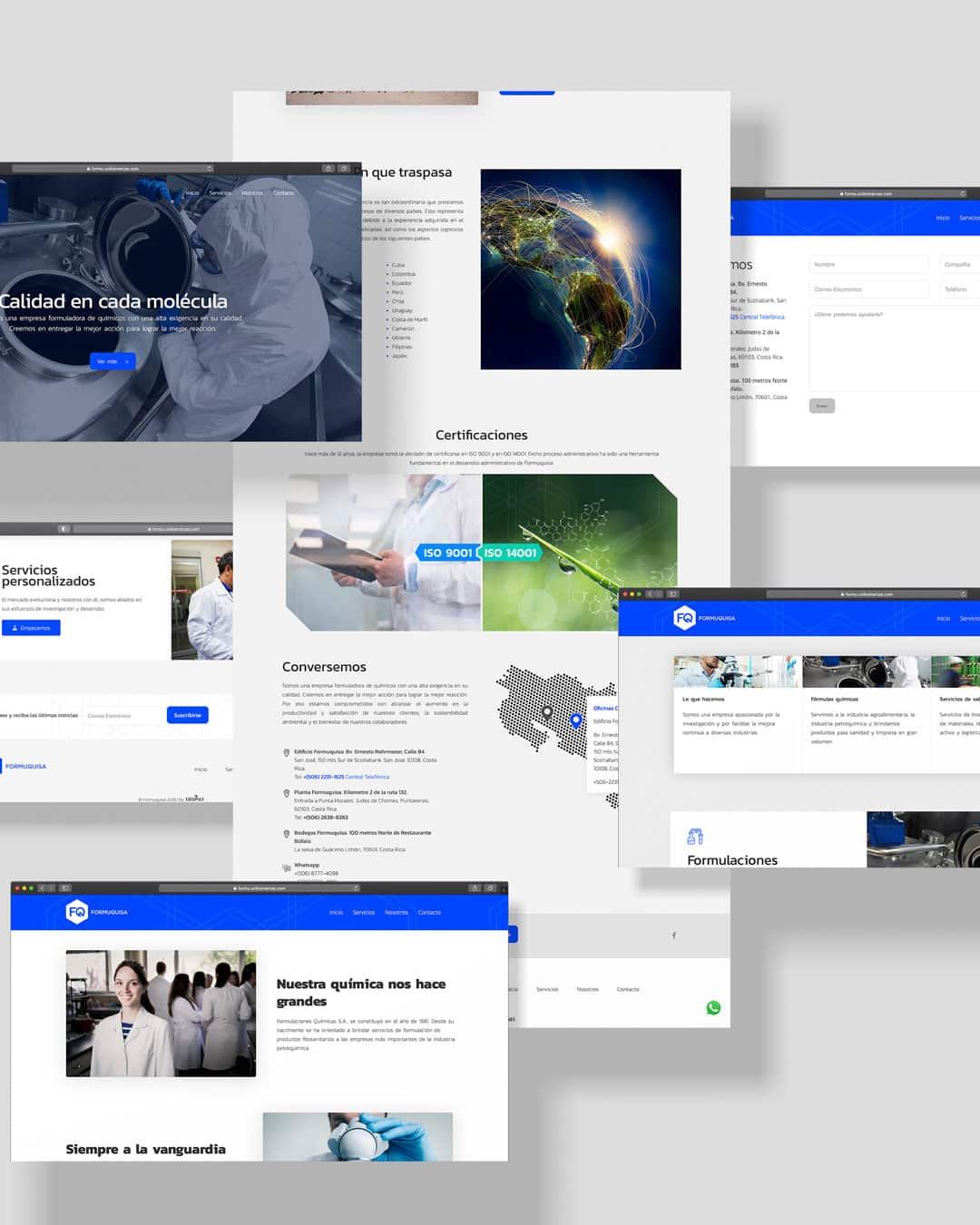 Formuquisa - Sitio web - Uniko